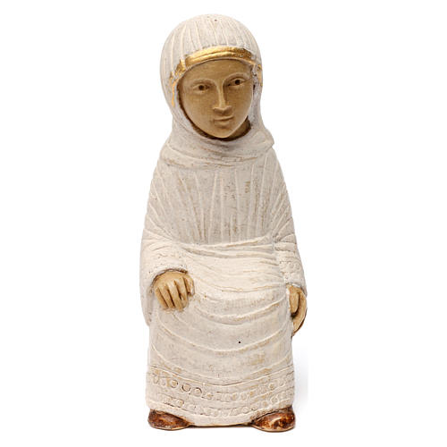 Maria Presepe d'Autunno bianco dipinto 1