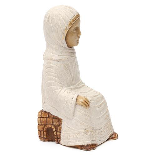Maria Presepe d'Autunno bianco dipinto 3