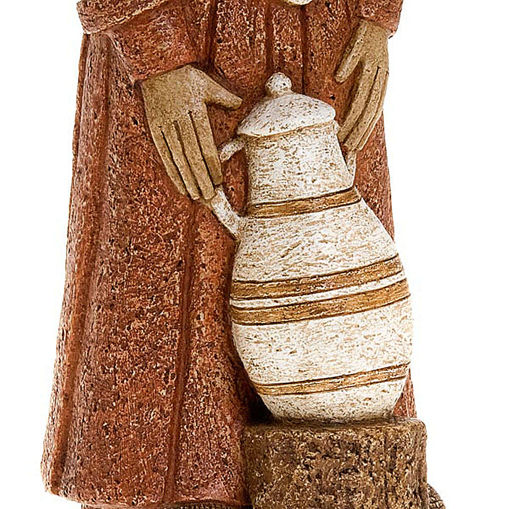 Shepherdess with red dress and amphora - rural crèche 4