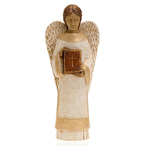Angel figurine with book for rural crèche 1