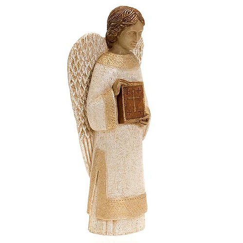 Angel figurine with book for rural crèche 7