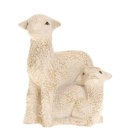 Brebis et agneau pour la crèche Paysanne 1