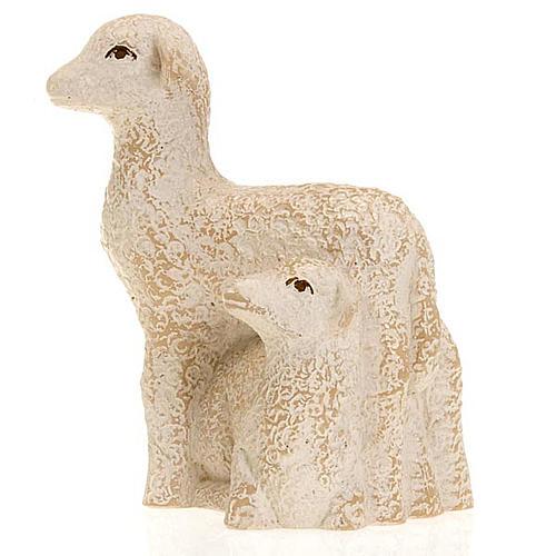 Brebis et agneau pour la crèche Paysanne 3