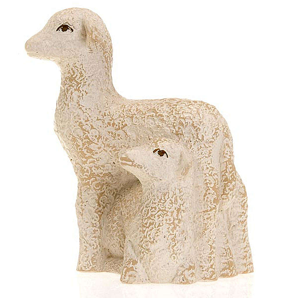 Pecorella e agnello Presepe Contadino Bethléem 4