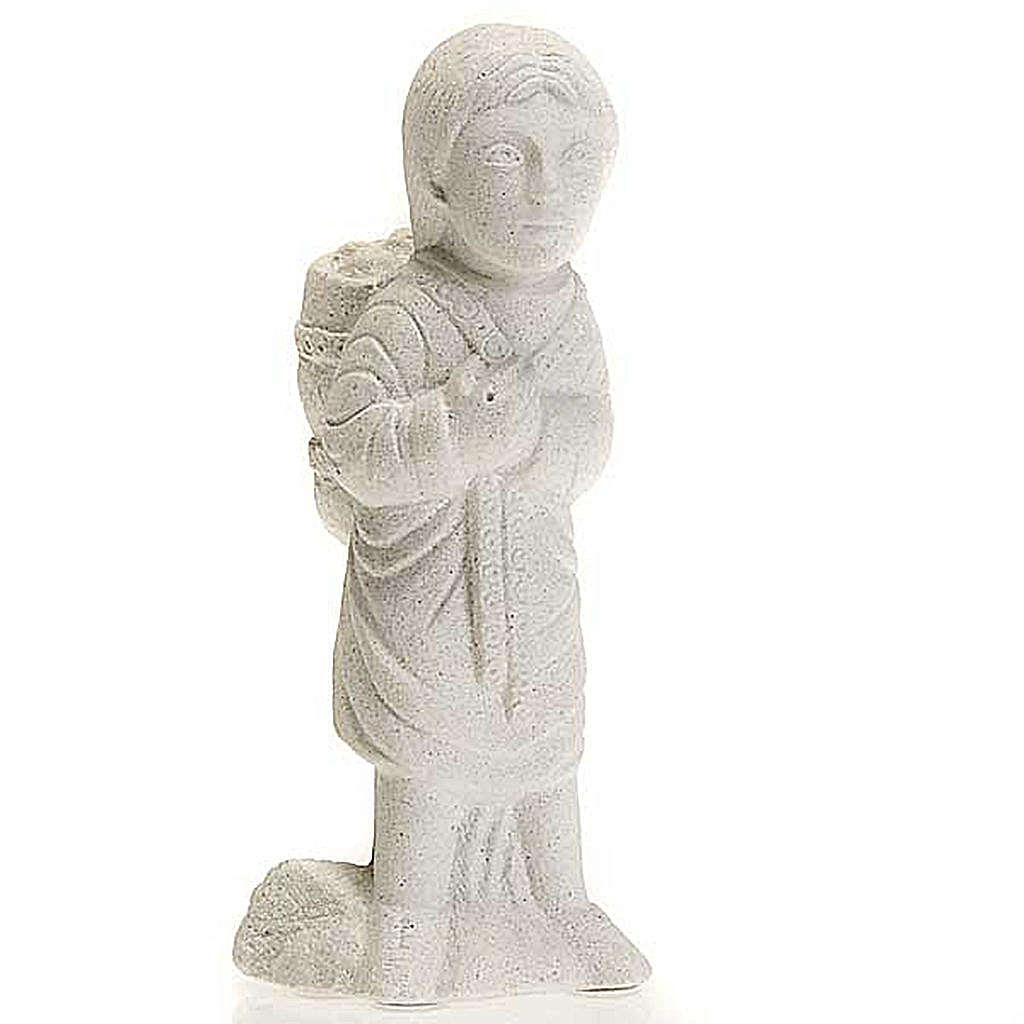 Pastor para Pesebre de Otoño de piedra blanca 4
