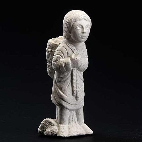Pastor Presépio de Autun pedra branca 3