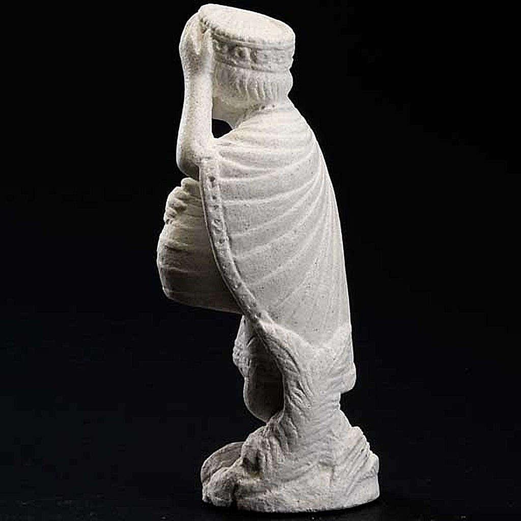 Re magio africano Presepe d'Autunno pietra bianca 4