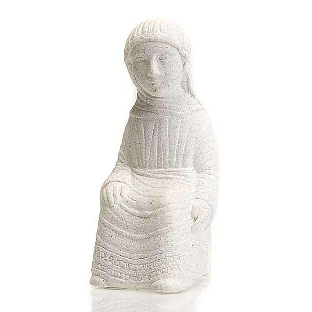 Vierge Marie Crèche d'Automne pierre blanche 4