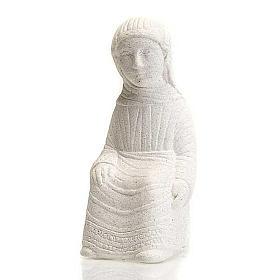 Vierge Marie Crèche d'Automne pierre blanche s1