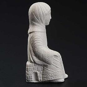 Maryja Szopka z Autun biały kamień s3