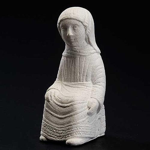 Virgem Maria Presépio de Autun pedra branca 2