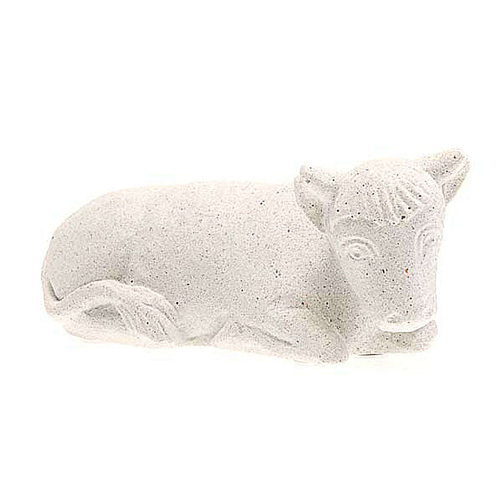 Wół Szopka z Autun biały kamień 4