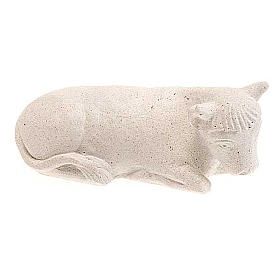 Wół Szopka z Autun biały kamień s2