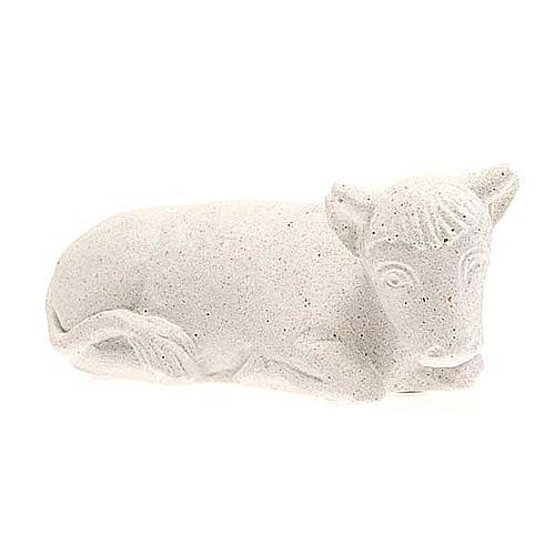 Wół Szopka z Autun biały kamień 1