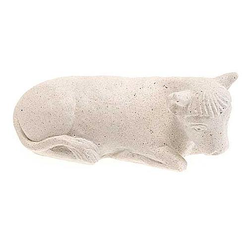 Wół Szopka z Autun biały kamień 2