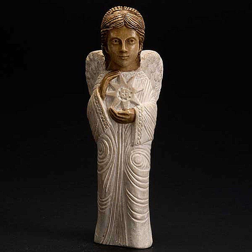 Angel figurine Autumn crib white painted 4