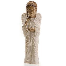 Angel figurine Autumn crib white painted s1