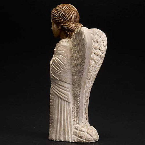 Angel figurine Autumn crib white painted 3