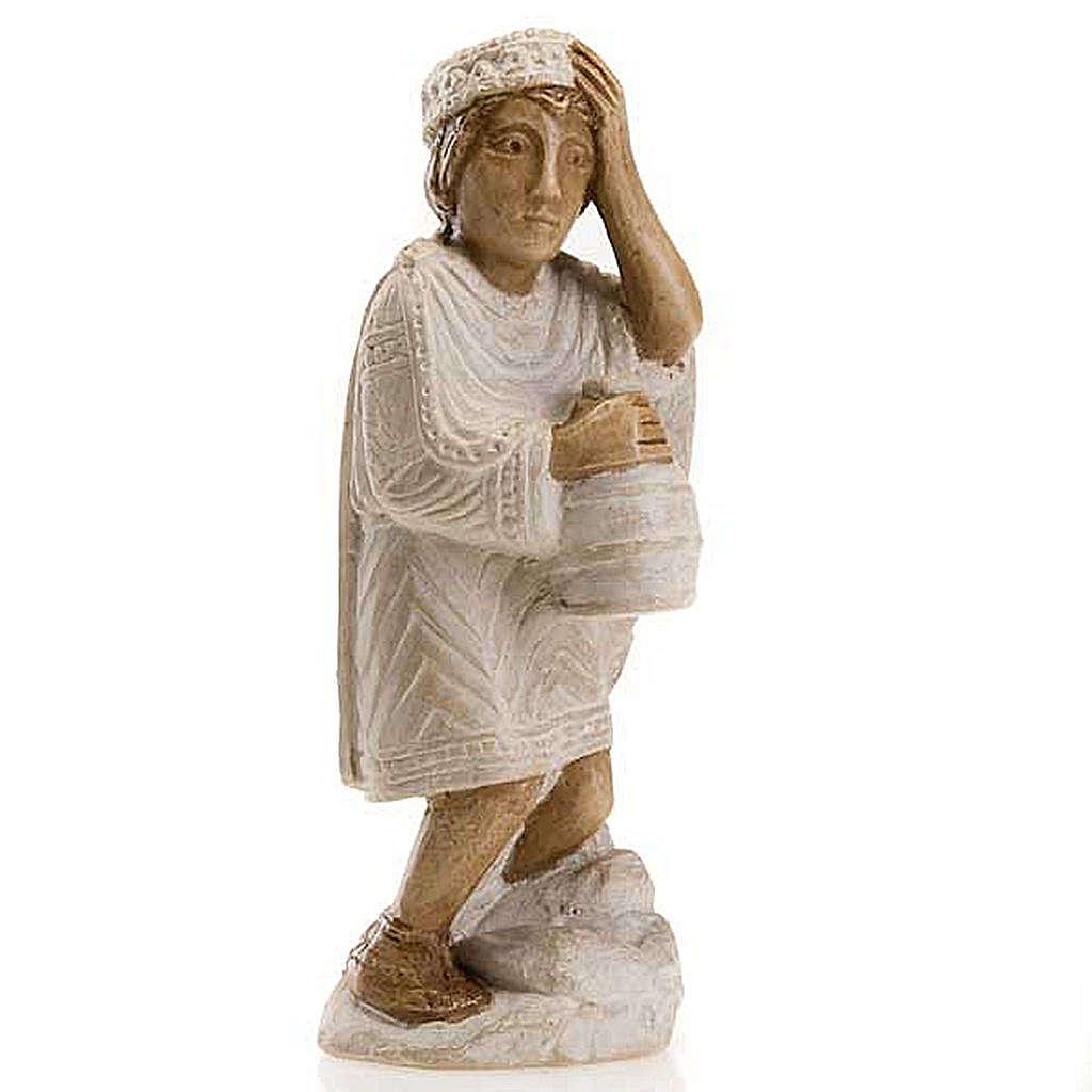 Rey Mago Africano para Pesebre de Otoño pintado blanco 4