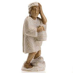 Rey Mago Africano para Pesebre de Otoño pintado blanco s1
