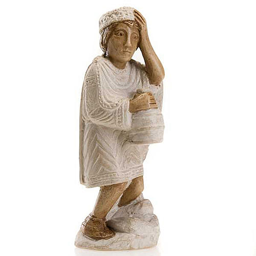 Rey Mago Africano para Pesebre de Otoño pintado blanco 1