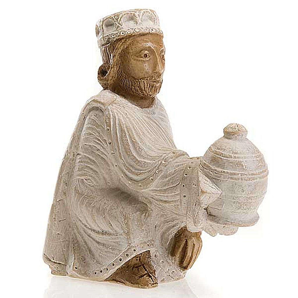 Roi Mage persan Crèche d'Automne peinte blanche 4