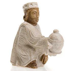 Roi Mage persan Crèche d'Automne peinte blanche s1
