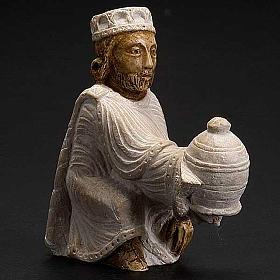 Roi Mage persan Crèche d'Automne peinte blanche s2