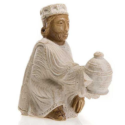 Roi Mage persan Crèche d'Automne peinte blanche 1