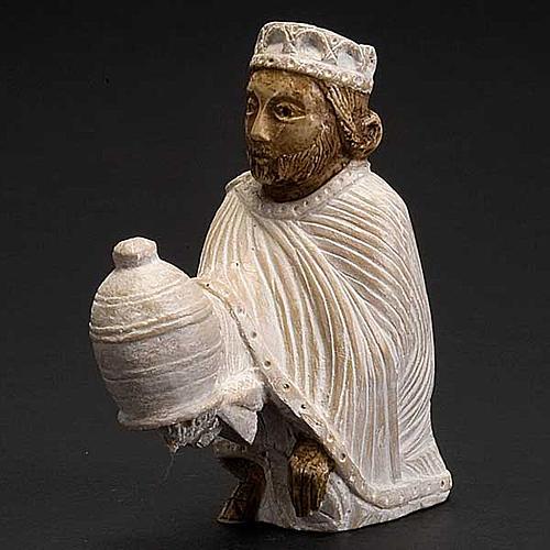 Roi Mage persan Crèche d'Automne peinte blanche 3
