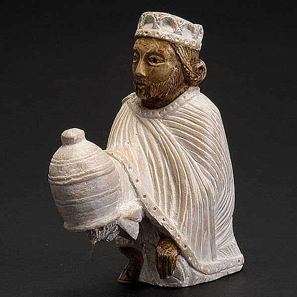 Re magio persiano Presepe d'Autunno dipinto bianco 4