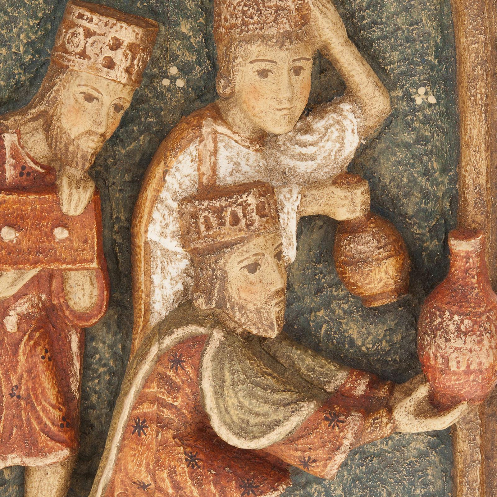 Crèche d'Autun complète bois peint 4