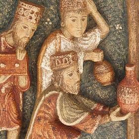 Crèche d'Autun complète bois peint s3