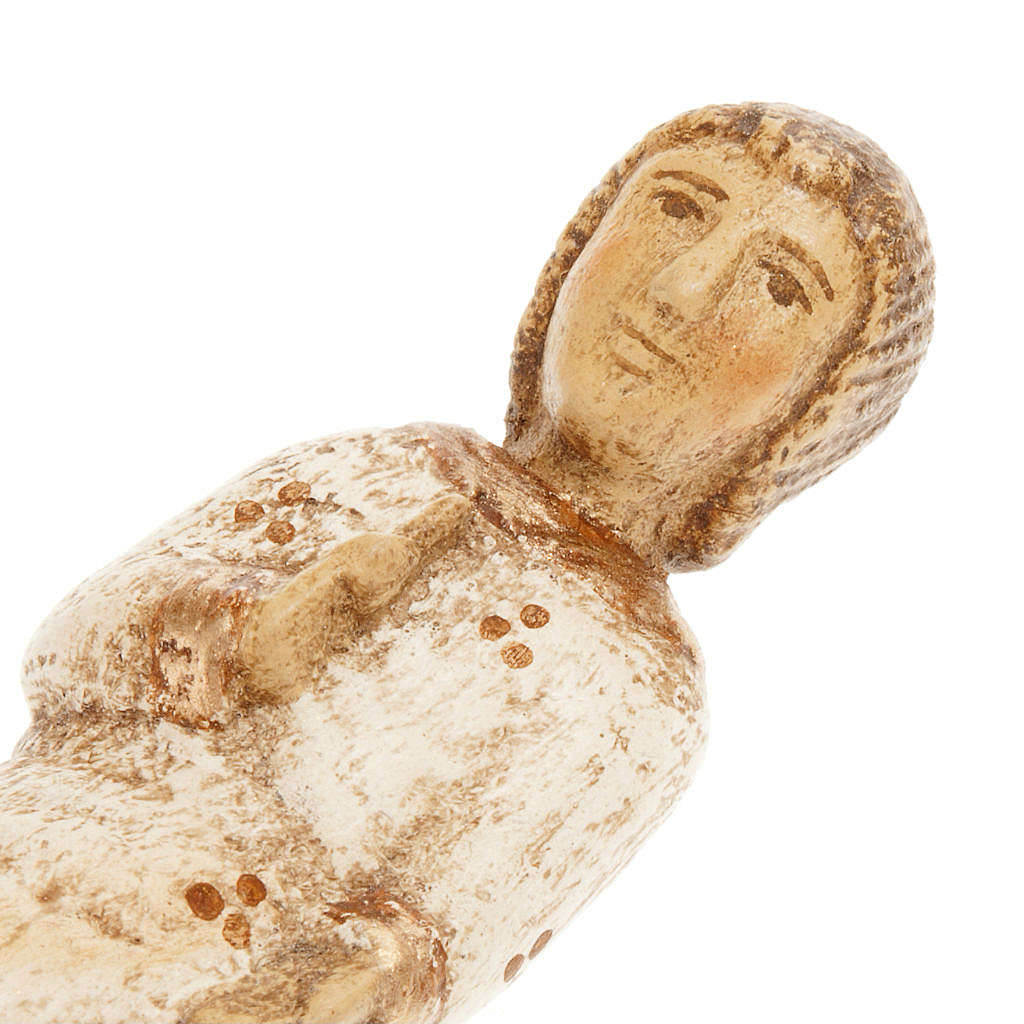 Jesús niño para Pesebre de Otoño de madera pintada 4