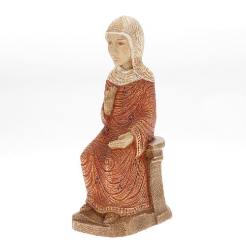 Vierge Marie Crèche d'Autun bois peint 1