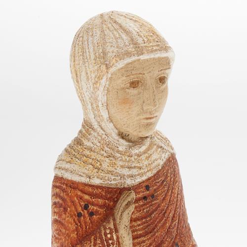 Vierge Marie Crèche d'Autun bois peint 2