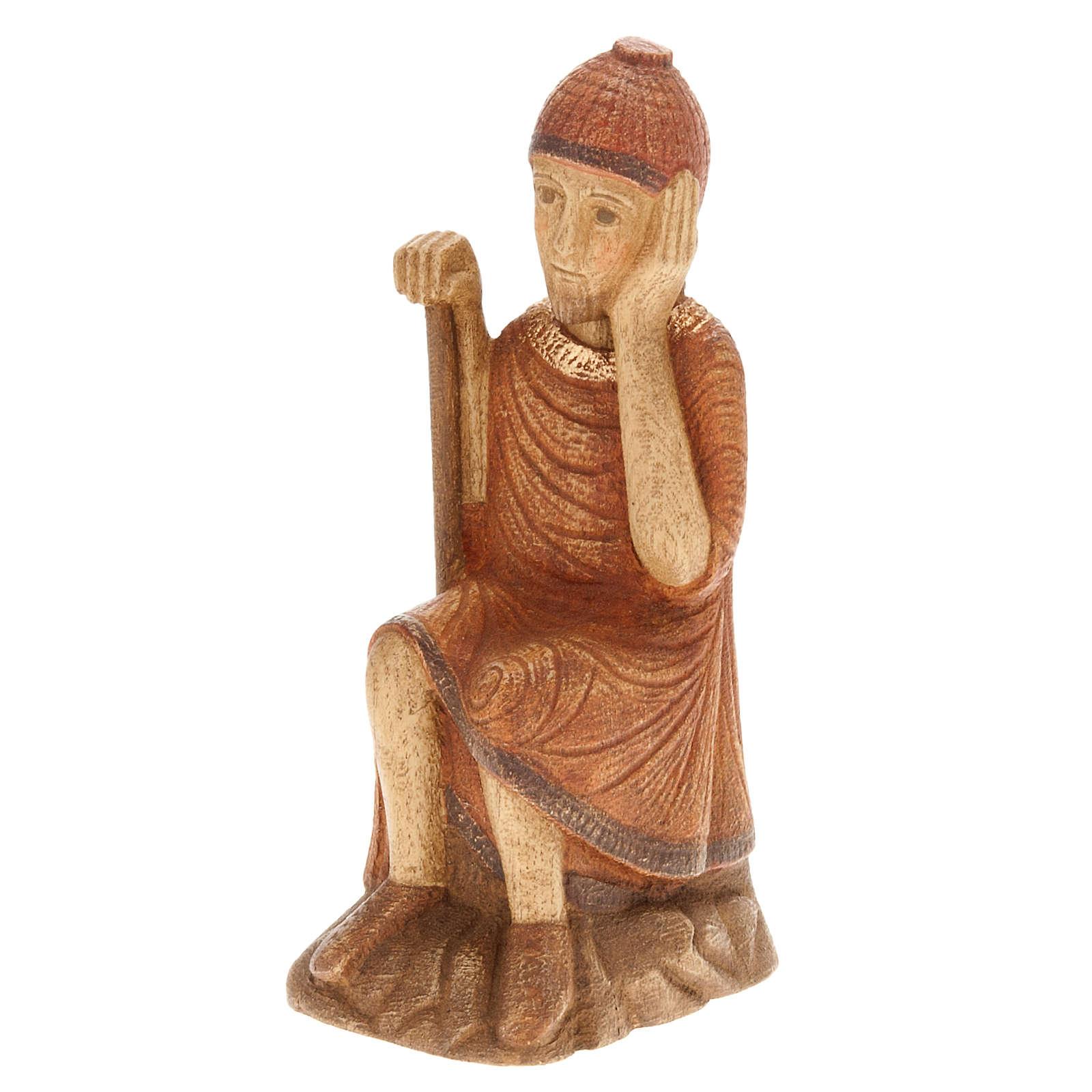 San José para Pesebre de Otoño de madera pintada 4