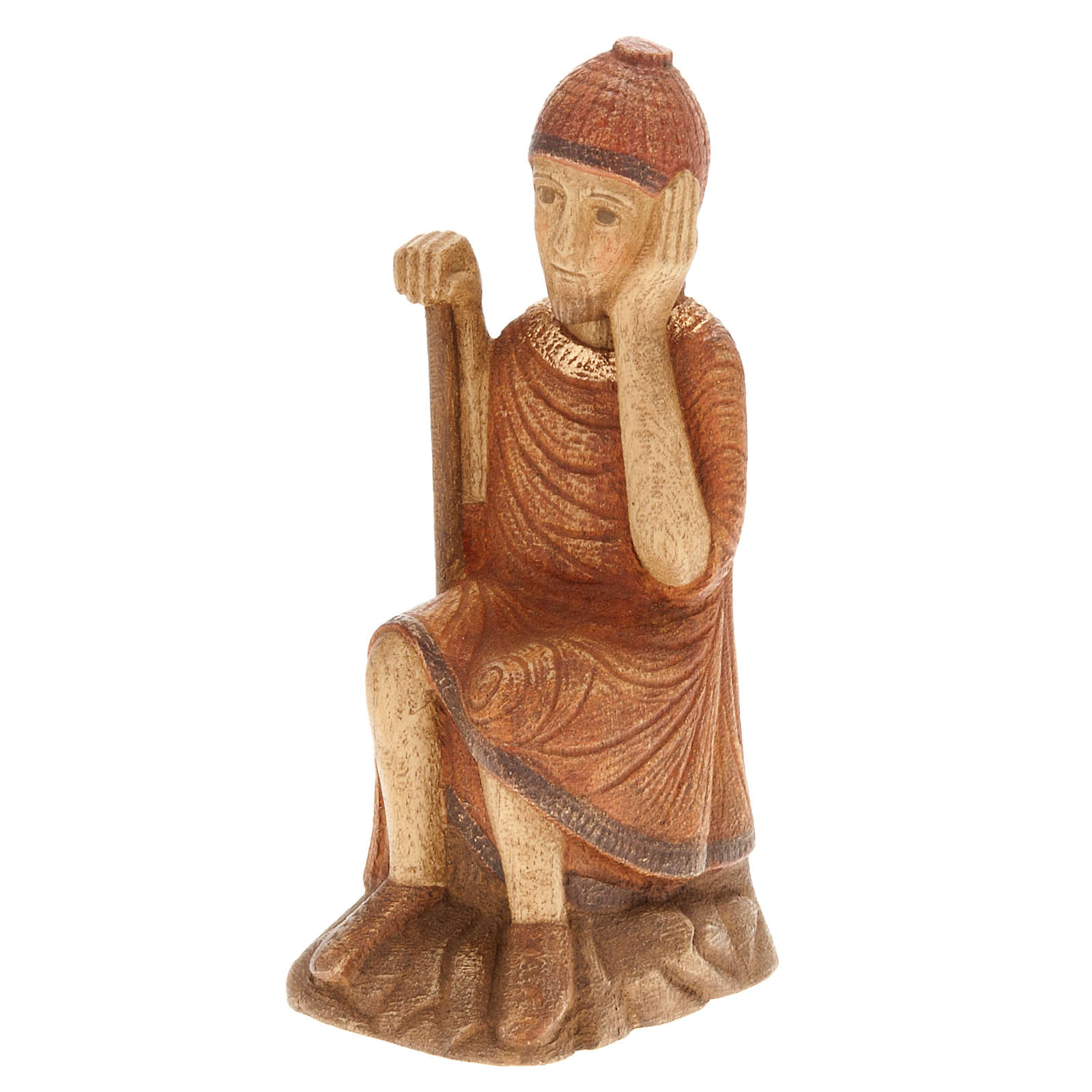San Giuseppe Presepe d'Autunno legno dipinto 4