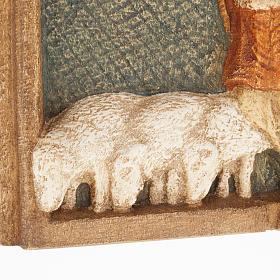 Bassorilievo pastori Presepe d'Autunno legno dipinto s4