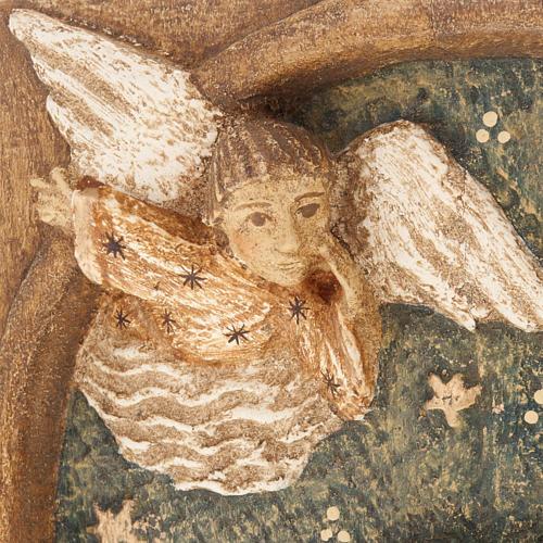 Bassorilievo pastori Presepe d'Autunno legno dipinto 2
