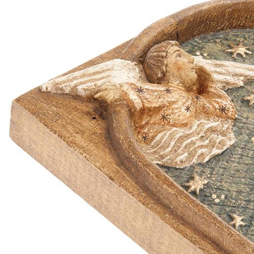 Bassorilievo pastori Presepe d'Autunno legno dipinto 5