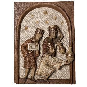 Relief Trzej Królowie kamień Duża Szopka z Autun Bethleem s1