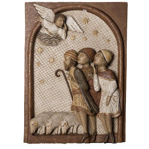 Big Autumn Crib Shepherds bas relief in stone Bethléem 1