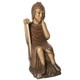 Big Autumn Crib St Joseph figurine in stone Bethléem s1