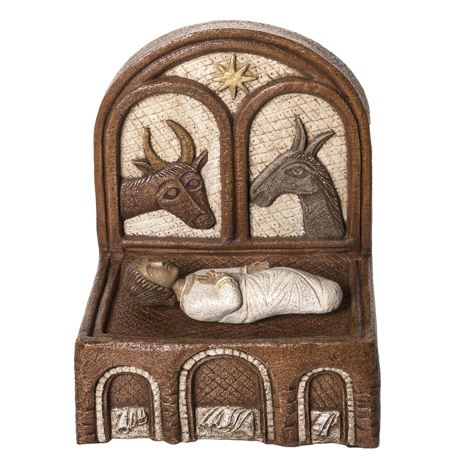 Big Autumn Crib Jesus and manger in stone Bethléem 4