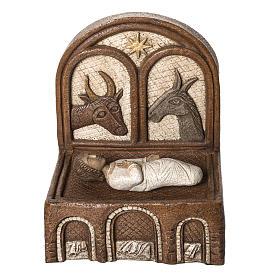 Big Autumn Crib Jesus and manger in stone Bethléem s1