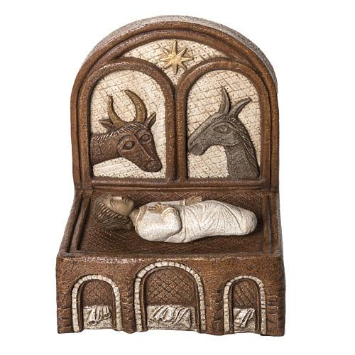 Jésus dans sa mangeoire Grande crèche d'autun pierre Bethlé 1