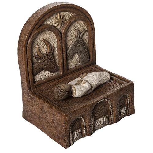 Żłóbek i Jezus kamień Duża Szopka z Autun Bethleem 2