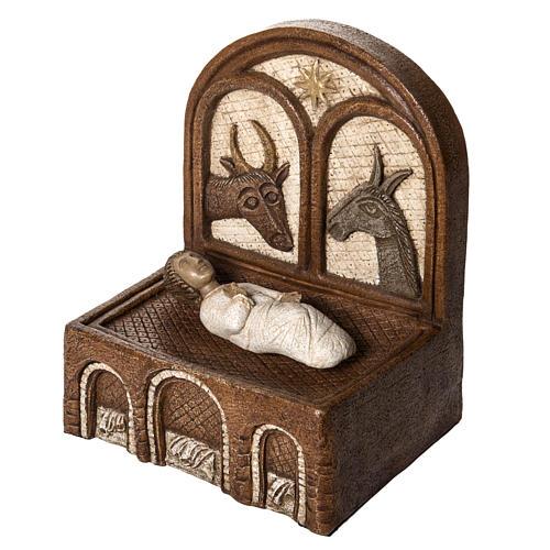 Żłóbek i Jezus kamień Duża Szopka z Autun Bethleem 3