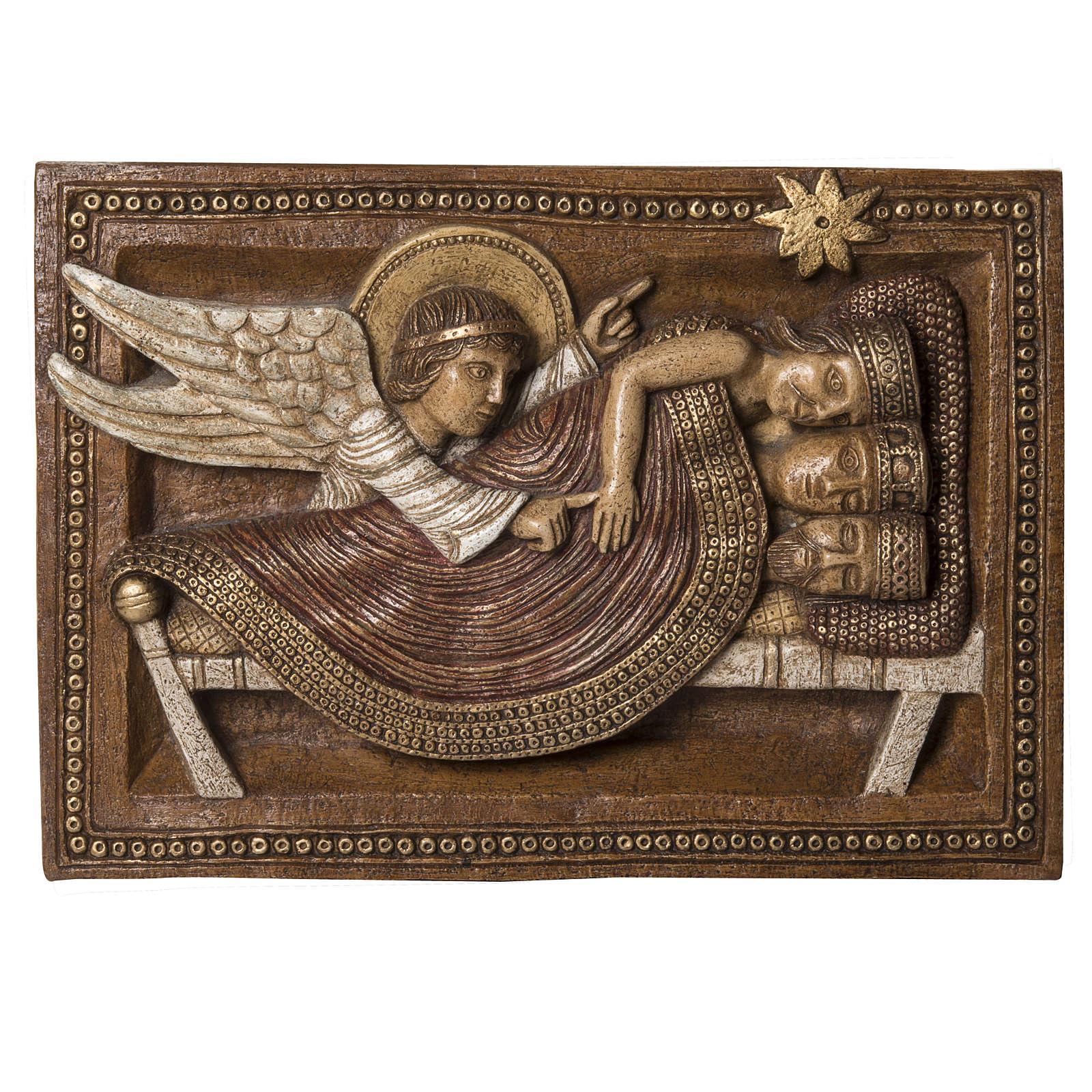 Sogno Re Magi e Angelo pietra Bethléem Gran Presepe Autunno 4